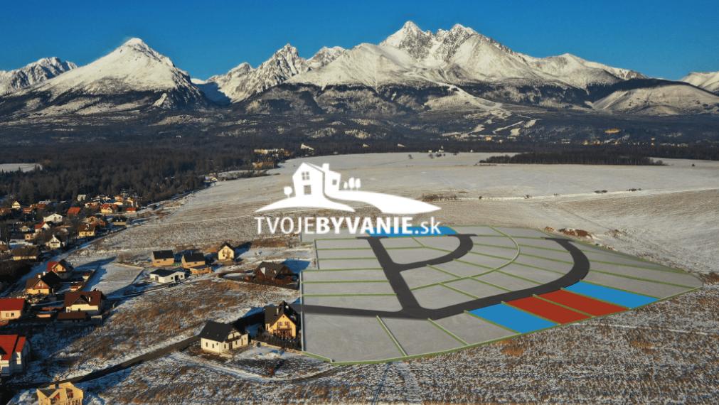 35 z 38 stavebných pozemkov v Starej Lesnej Vysoké Tatry