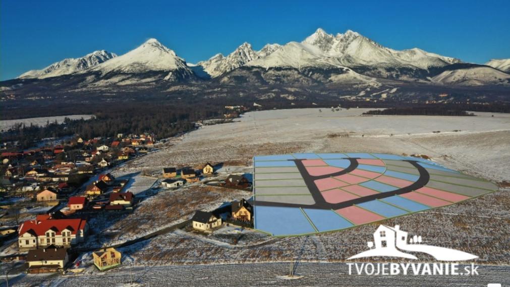 Zelený vŕšok - 10 stavebných pozemkov na predaj z 38 v Starej Lesnej, Vysoké Tatry